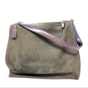 Coach 6144 Vintage Monterey Zip Top Suede Hobo Bag